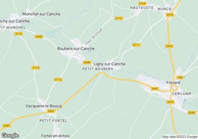 Map for Nord-Pas-de-Calais, Pas-de-Calais, Ligny-sur-Canche