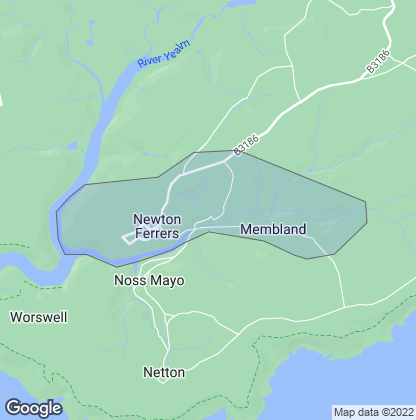 Map of property in Newton Ferrers