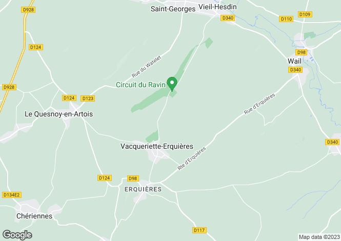 Map for vacqueriette-erquieres, Pas-de-Calais, France