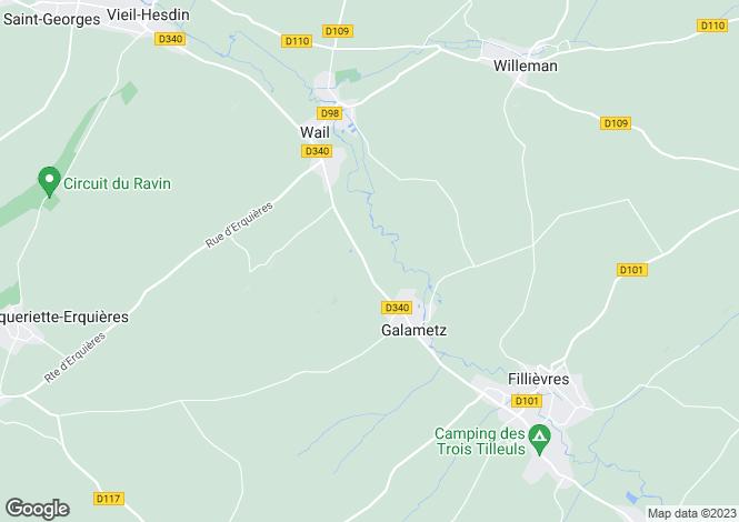 Map for Nord-Pas-de-Calais, Pas-de-Calais, Wail