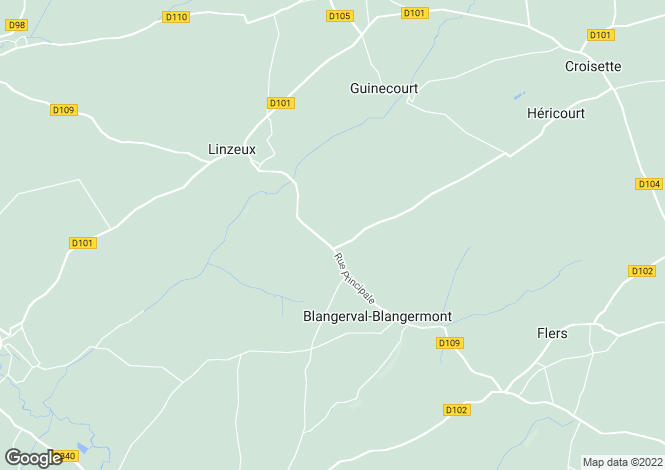 Map for Nord-Pas-de-Calais, Pas-de-Calais, Blangermont