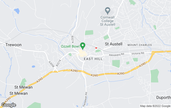 Map for Miller Lettings, St. Austell