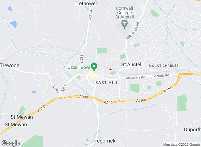 Map for ACT Estate Agents, St Austell