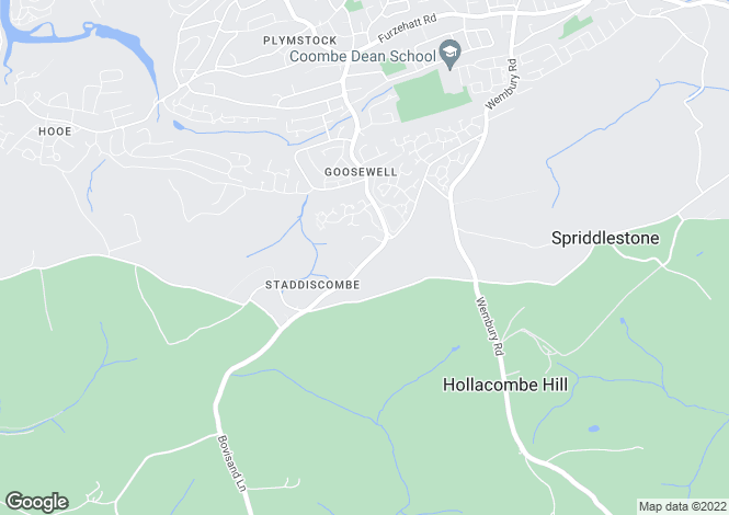 Map for Staddiscombe Road, Staddiscombe, Plymouth, Devon