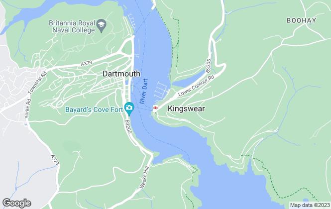Map for The Coastal House, Kingswear