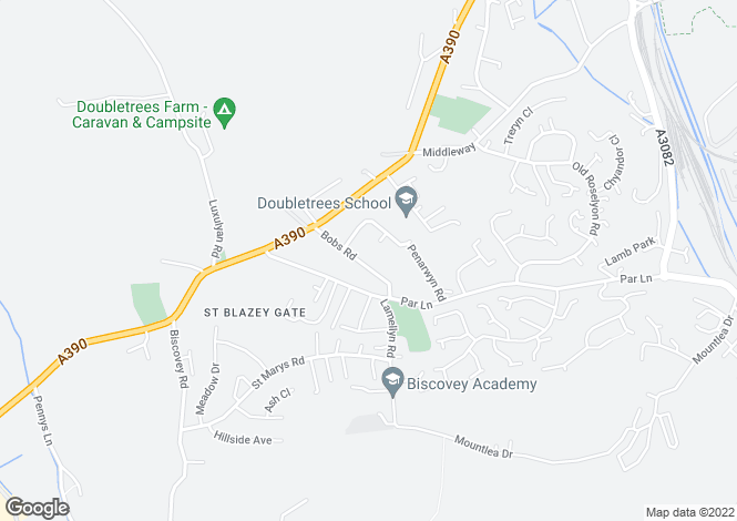 Map for Bobs Road, St Blazey Gate