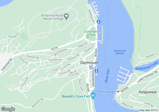 Map for Dartmouth