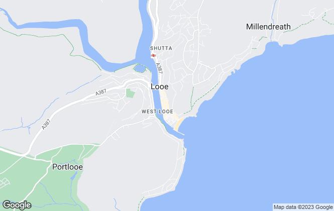Map for Bradleys Property Rentals, Looe