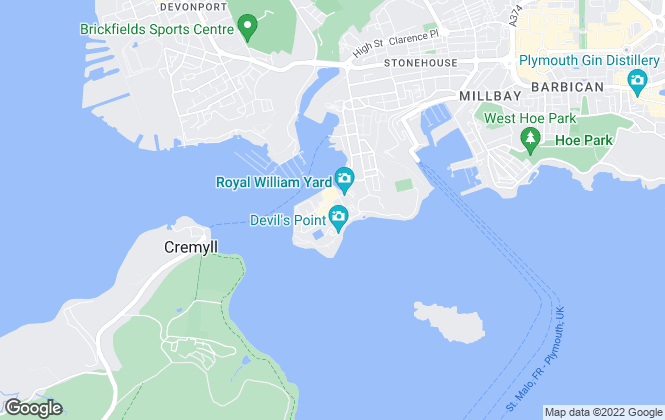 Map for William Lean , Plymouth