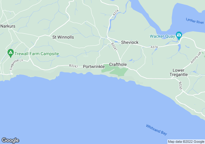 Map for Portwrinkle, Whitsand Bay
