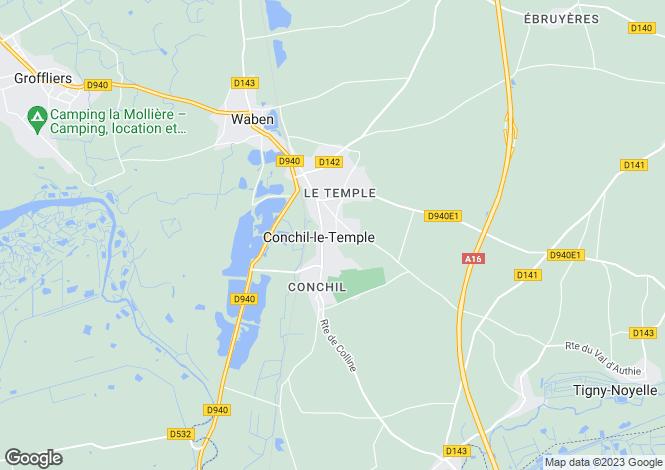 Map for conchil-le-temple, Pas-de-Calais, France
