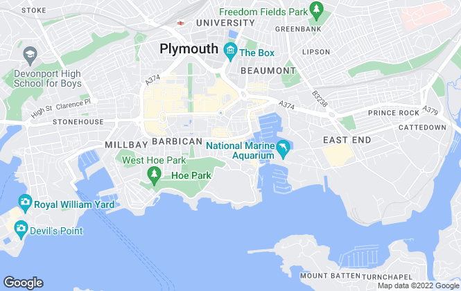 Map for easyProperty, Plymouth