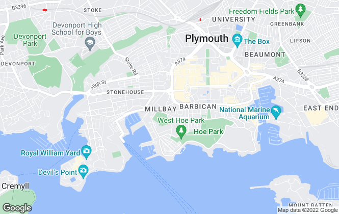 Map for Maitlands , Plymouth City