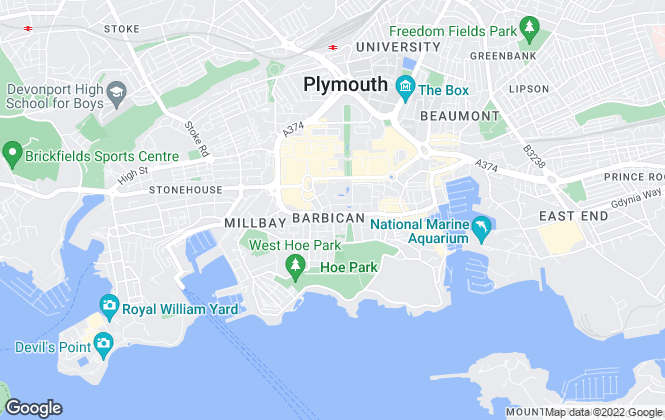 Map for Vickery Holman, Plymouth