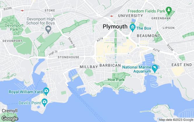 Map for Burrington Estates, Ocean Crescent
