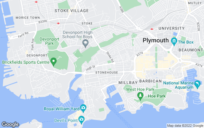 Map for PL Properties, Plymouth