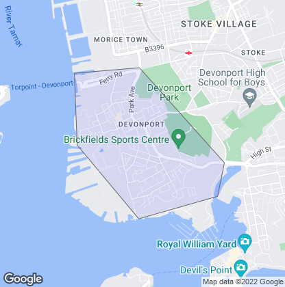 Map of property in Devonport