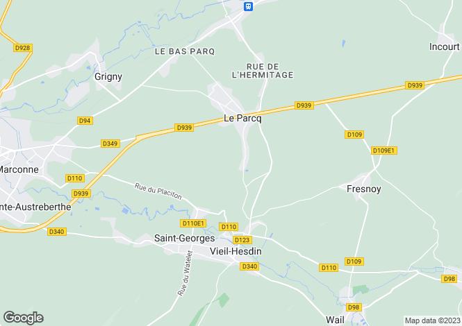 Map for le-parcq, Pas-de-Calais, France