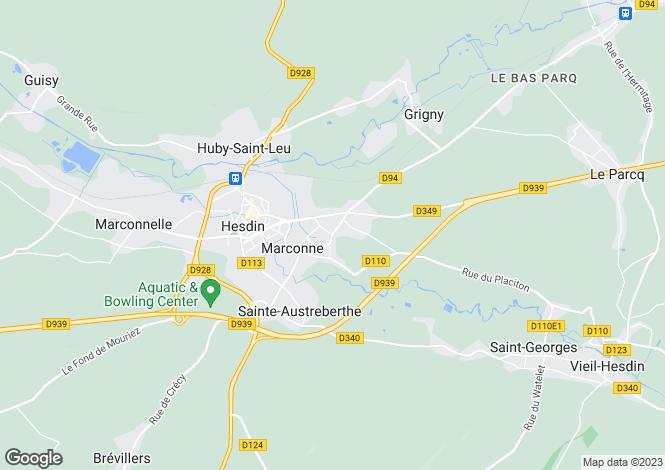 Map for Nord-Pas-de-Calais, Pas-de-Calais, Marconne