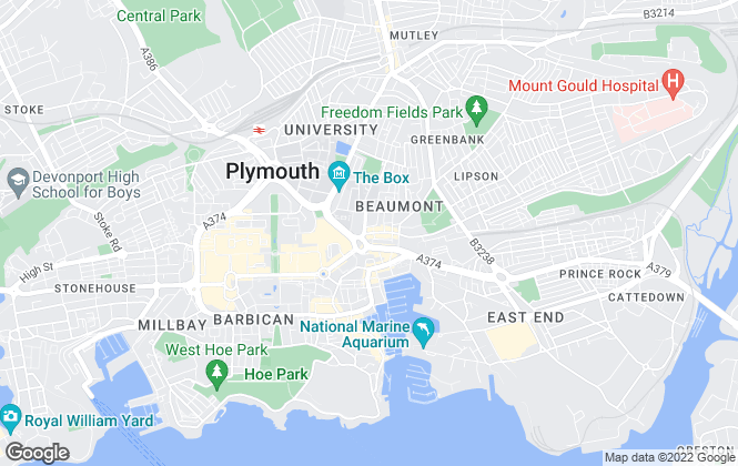 Map for At Home Property, Plymouth