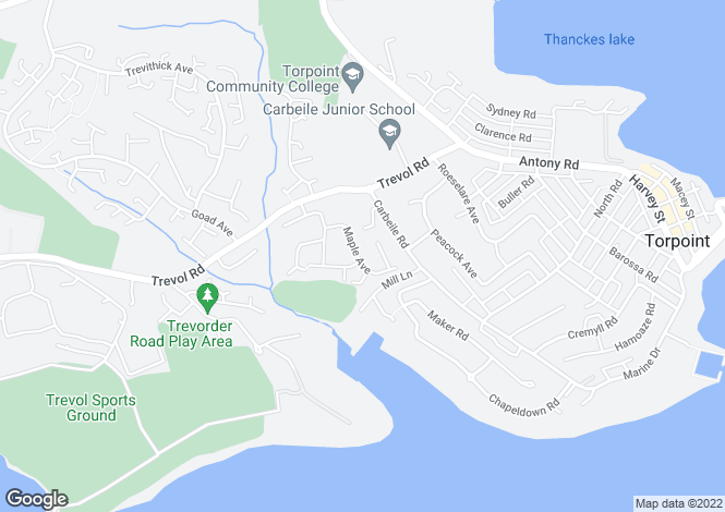 Map for Maple ave, Torpoint,