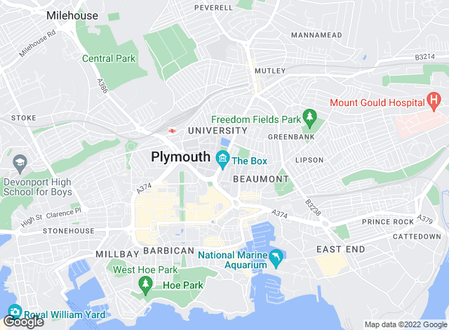 Map for Fulfords, Drake Circus Office, Plymouth