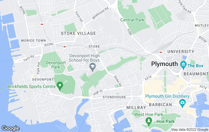 Map for Trundlewood Ltd , Plymouth