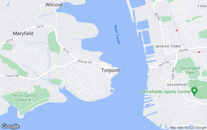 Map for Ideal Homes, Torpoint