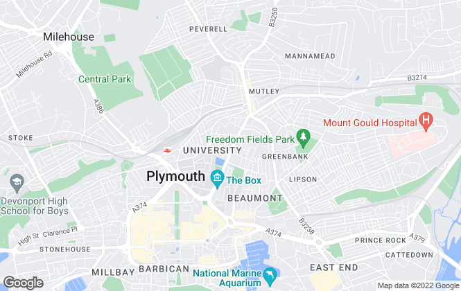Map for Tudor Price Lettings, Plymouth
