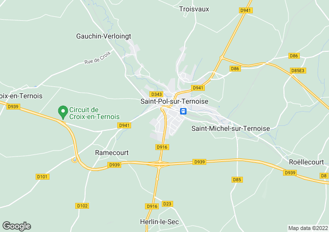 Map for North-Calais, Pas-de-Calais, Bergueneuse