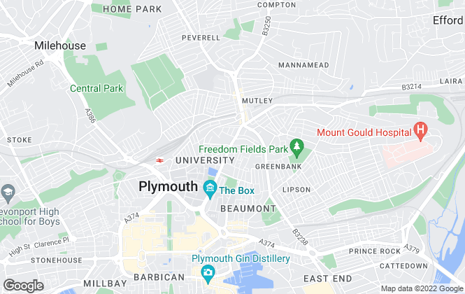 Map for Unity Lets, Plymouth