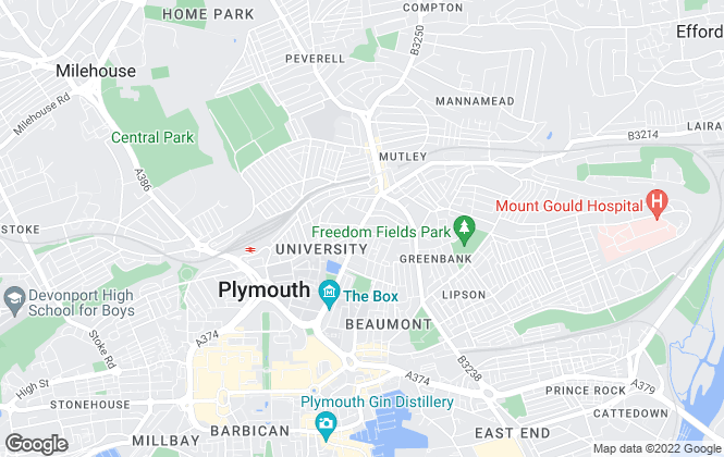 Map for Student Life, Plymouth - Lettings