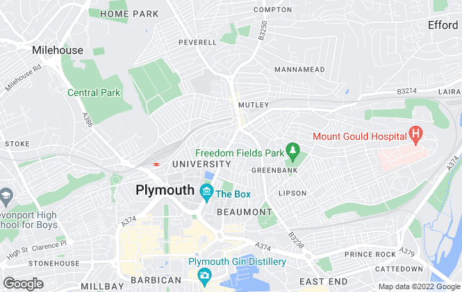 Map for Miller Countrywide, Plymouth