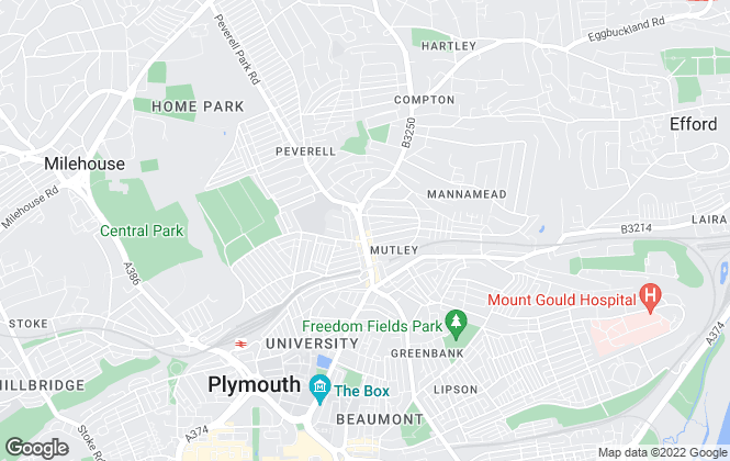 Map for DC Lane, Plymouth