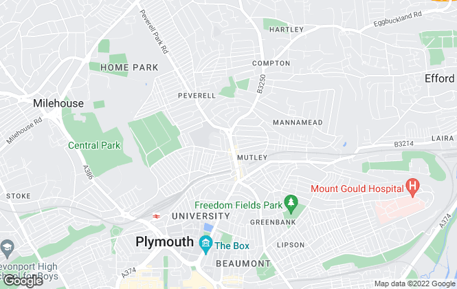 Map for Northwood, Plymouth