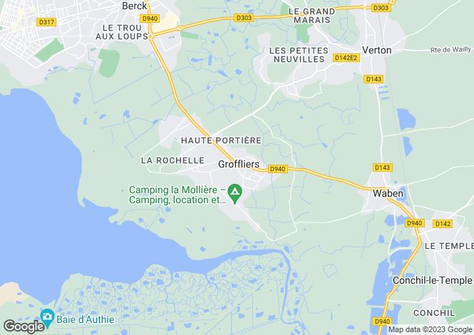 Map for Nord-Pas-de-Calais, Pas-de-Calais, Groffliers