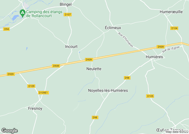 Map for neulette, Pas-de-Calais, France