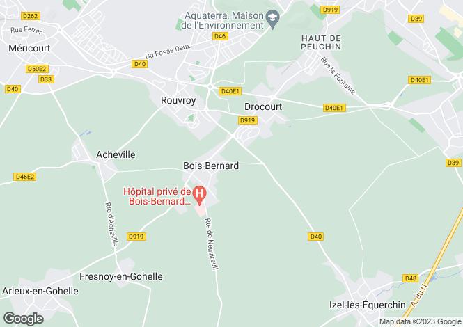 Map for bois-bernard, Pas-de-Calais, France