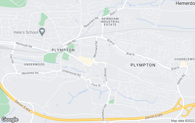 Map for Moving On, Estate Agents, Plympton, Plymouth