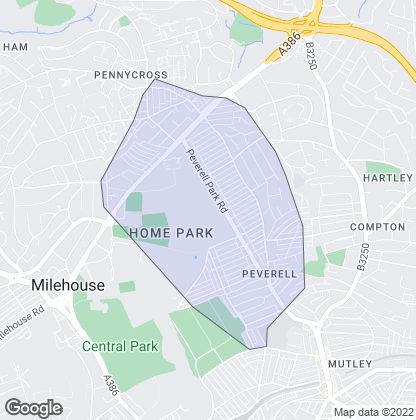 Map of property in Peverell