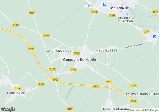 Map for Campagne-lès-Hesdin, Pas-de-Calais, Nord-Pas-de-Calais