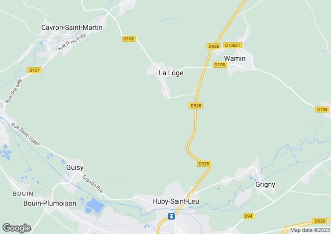 Map for Nord-Pas-de-Calais, Pas-de-Calais, La Loge