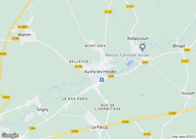 Map for auchy-les-hesdin, Pas-de-Calais, France