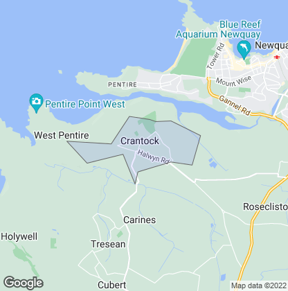 Map of property in Crantock