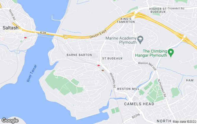 Map for Fulfords, St. Budeaux