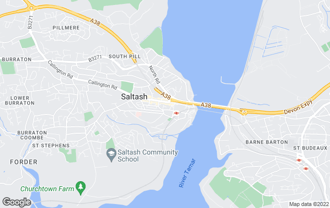 Map for Miller Countrywide, Saltash
