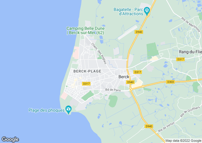 Map for berck, Pas-de-Calais, France