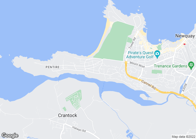 Map for Pentire Crescent, Pentire, Newquay