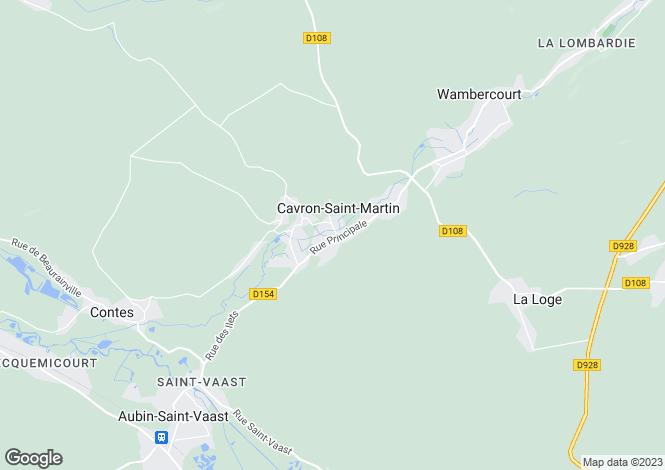 Map for Cavron-St-Martin, Pas-de-Calais, Nord-Pas-de-Calais