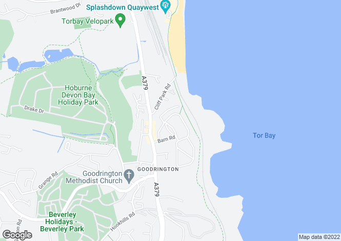 Map for Oyster Bend, Three Beaches, Paignton